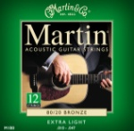 M180  Martin Acoustic Guitar Strings 12 String -- Extra Light