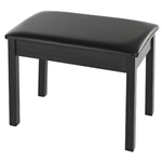 BB1 Yamaha Black, Wood, Padded Piano Bench for Digital Pianos with a Black Finish