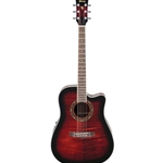 PF28ECETRS  Ibanez Acoustic/Electric Guitar - Transparent Red Sunburst