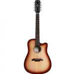 AD60-12CESHB  Alvarez Acoustic Electric Guitar - 12 String Shadow Burst