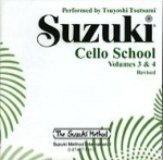 0941  Suzuki Cello School CD Vol 3 & 4