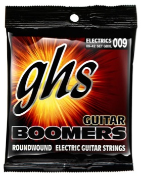GBXL  GHS Boomers Electric Guitar Strings -- Light 009
